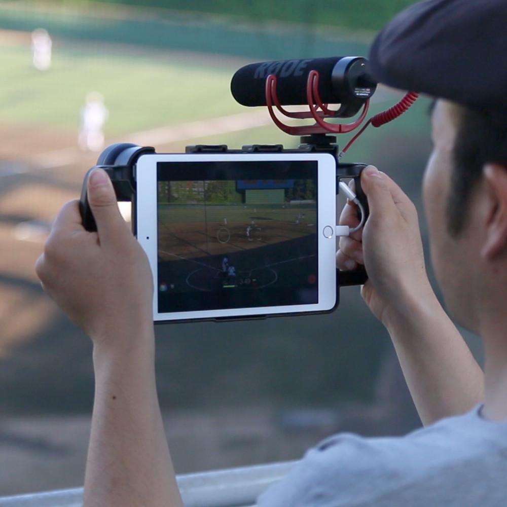 両手持ちでカメラワークが安定